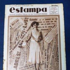 Collezionismo di Riviste e Giornali: REVISTA GRAFICA ESTAMPA, Nº 254, 19 NOVIEMBRE 1932, MAÑANA ELIGE CATALUÑA SUS DIPUTADOS. Lote 220070781