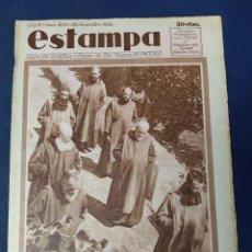 Collezionismo di Riviste e Giornali: REVISTA GRÁFICA ESTAMPA, Nº 255, 26 NOVIEMBRE 1932, LOS PENINENTES DE LA SIERRA DE CORDOBA. Lote 220071405