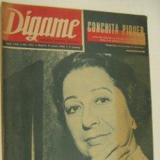 Coleccionismo de Revistas y Periódicos: REVISTA DIGAME.-Nº 1515, 14 ENERO 1969 - CONCHITA PIQUER, MANOLO ESCOBAR, LAURA VALENZUELA, MASSIEL. Lote 220362763