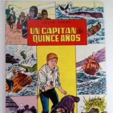 Coleccionismo de Revistas y Periódicos: UN CAPITÁN DE QUINCE AÑOS - JULIO VERNE - CLÁSICOS ILUSTRADOS (SIN USAR, DE DISTRIBUIDORA). Lote 220491803