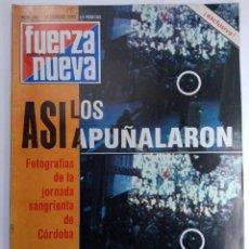 Coleccionismo de Revistas y Periódicos: REVISTA FUERZA NUEVA Nº 684 - 16 DE FEBRERO 1980. Lote 220584222