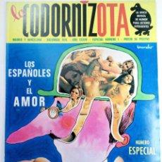 Coleccionismo de Revistas y Periódicos: REVISTA LA CODORNIZ - LA CODORNIZOTA ESPECIAL Nº 1 DICIEMBRE 1976 - LOS ESPAÑOLES Y EL AMOR. Lote 220584752