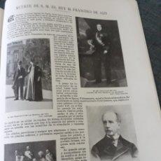 Coleccionismo de Revistas y Periódicos: MUERTE DE S.M. EL REY D.FRANCISCO DE ASIS .AÑO 1902 . 3 PAGINAS .. Lote 220733462
