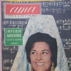 Coleccionismo de Revistas y Periódicos: IMPERIO ARGENTINA REVISTA AMA SEPTIEMBRE 1962.... Lote 220823167