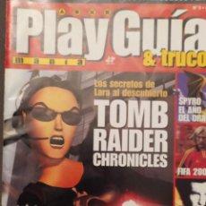 Coleccionismo de Revistas y Periódicos: PLAY GUIAS Y TRUCOS PARA USUARIOS PLAYSTATION NUM 5 TOMB RAIDER, DRIVER 2, SPYRO,FIFA 2001,. Lote 220829841
