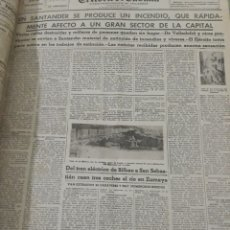 Coleccionismo de Revistas y Periódicos: PERIODICO EL NORTE DE CASTILLA . INCENDIO DE SANTANDER . 16 DE FEBRERO DE 1941. Lote 220829941