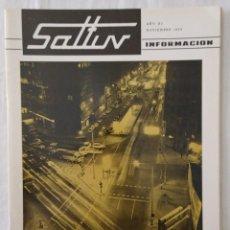 Coleccionismo de Revistas y Periódicos: REVISTA AUTOBUSES SALTUV Y FULTUV NOV 1974 VENTRÍLOCUO SANZ VIDAL CORELLA TEATROS VALENCIA. Lote 221092248