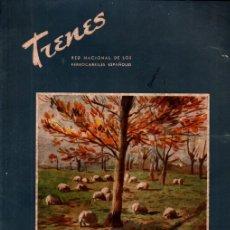 Coleccionismo de Revistas y Periódicos: REVISTA TRENES Nº 13 - OTOÑO 1942 - FERROCARRILES RENFE. Lote 221133295