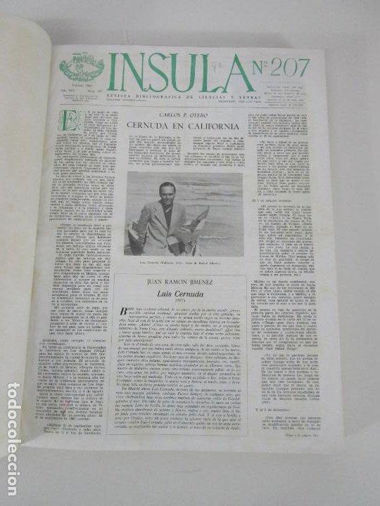 Coleccionismo de Revistas y Periódicos: Revista Insula Bibliográfica de Ciencia y Letras - 36 Tomos Encuadernados - del 1964 al 1975 - Foto 3 - 219349548