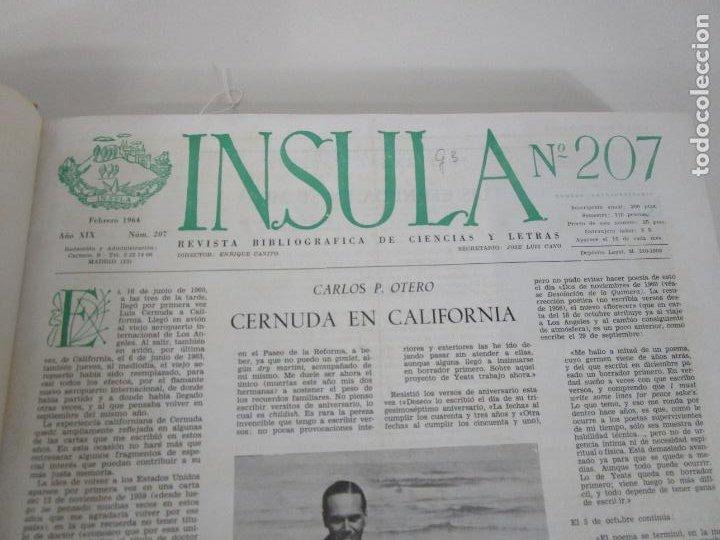 Coleccionismo de Revistas y Periódicos: Revista Insula Bibliográfica de Ciencia y Letras - 36 Tomos Encuadernados - del 1964 al 1975 - Foto 4 - 219349548