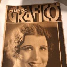Coleccionismo de Revistas y Periódicos: MUNDO GRAFICO 29 DE OCTUBRE 1930 VIAJE DEL REY A TORO. MADRID PINTORESCO, VERDUGI LANDI. Lote 221437052
