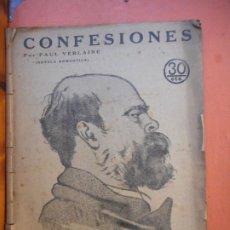 Coleccionismo de Revistas y Periódicos: REVISTA LITERARIA. NOVELAS Y CUENTOS. CONFESIONES. PAUL VERLAINE. NOVELA ROMÁNTICA.. Lote 221536392