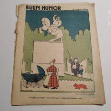 Coleccionismo de Revistas y Periódicos: SEMANARIO SATÍRICO BUEN HUMOR, 22 DE MARZO DE 1925, PORTADA DIBUJO DE GALINDO, CONTRAPORTADA RIVERON. Lote 221601221
