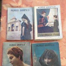 Coleccionismo de Revistas y Periódicos: LOTE DE LA REVISTA MUNDO GRÁFICO AÑO VI - 1916. Lote 221663577