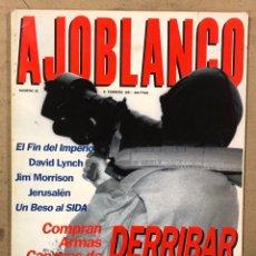 Coleccionismo de Revistas y Periódicos: AJOBLANCO N° 30 (1991). DAVID LYNCH, JIM MORRISON, SIDA, ALESSANDRO MENDINI,.... Lote 221707132