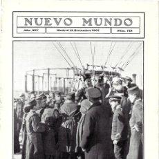 Coleccionismo de Revistas y Periódicos: 1907 HOJA REVISTA AVIACIÓN CONCURSO AEROSTÁTICO REAL AERO CLUB GLOBO KINDELAN Y DUQUE DE MEDINACELI. Lote 221707571