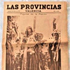 Coleccionismo de Revistas y Periódicos: PARTE GRÁFICA PERIÓDICO LAS PROVINCIAS 2 ABRIL 1931 VALENCIA - PORTADA SEMANA SANTA VALENCIA. Lote 293903268