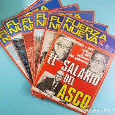 Coleccionismo de Revistas y Periódicos: LOTE 6 REVISTAS FUERZA NUEVA 1981: 754, 755, 773, 775, 760-761 Y 762-763. VER DESCRIPCION E IMAGENES. Lote 221715335