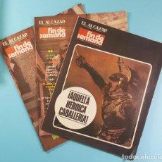 Coleccionismo de Revistas y Periódicos: LOTE 3 REVISTAS EL ALCAZAR FIN DE SEMANA 1981: 156 157 Y 158. VER IMAGENES. Lote 221715548