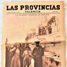 Coleccionismo de Revistas y Periódicos: PARTE GRÁFICA PERIÓDICO LAS PROVINCIAS 9 ABRIL 1931 VALENCIA - PORTADA ESCUADRA ESPAÑOLA EN VALENCIA. Lote 221715917