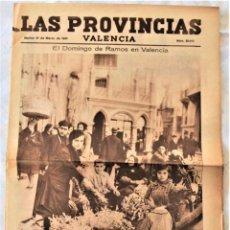 Coleccionismo de Revistas y Periódicos: PARTE GRÁFICA PERIÓDICO LAS PROVINCIAS 31 MARZO 1931 VALENCIA - DOMINGO DE RAMOS VALENCIA. Lote 221716491