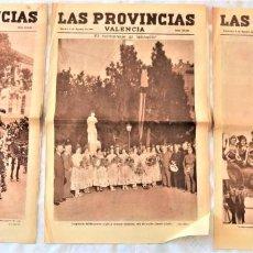 Coleccionismo de Revistas y Periódicos: PARTE GRÁFICA PERIÓDICOS LAS PROVINCIAS 2, 4 Y 5 AGOSTO 1931 VALENCIA - FIESTA LABRADOR EN VALENCIA. Lote 221716862
