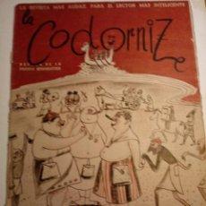 Coleccionismo de Revistas y Periódicos: REVISTA LA CODORNIZ 7 DE ABRIL 1957 AÑO XVII Nº 803. Lote 221735962