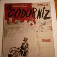Coleccionismo de Revistas y Periódicos: REVISTA LA CODORNIZ 22 DE JULIO 1956 AÑO XVI Nº 766. Lote 221736002