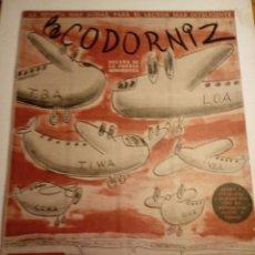 Coleccionismo de Revistas y Periódicos: REVISTA LA CODORNIZ 3 DE JUNIO 1956 AÑO XVI Nº 759. Lote 221736021