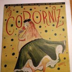Coleccionismo de Revistas y Periódicos: REVISTA LA CODORNIZ 10 DE JUNIO 1956 AÑO XVI Nº 760 NUMERO EXTRAORDINARIO. Lote 221736061