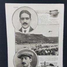 Coleccionismo de Revistas y Periódicos: 1913.AVIACIÓN AVIADOR CLEMENT PARIS-DEAUVILLE.MONTALENT.RUGERE.BEYMAUN VUELO.JONOIS HIDROAEROPLANO. Lote 221767786