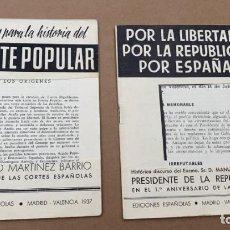 Coleccionismo de Revistas y Periódicos: REVISTAS O SIMILARES PAGINAS PARA LA HISTORIA DEL FRENTE POPULAR Y LA LIBERTAD POR LA REPUBLICA 1937. Lote 221768577