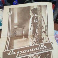 Coleccionismo de Revistas y Periódicos: LA PANTALLA-SEMANARIO ESPAÑOL DE CINEMATOGRAFÍA-N°58 AÑO III 10 MARZO 1929-REVISTA DE CINE. Lote 221769916