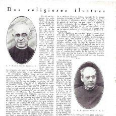 Coleccionismo de Revistas y Periódicos: 1930 HOJA REVISTA RELIGIOSOS ILUSTRES JESUITA R.P. REMIGIO VILARIÑO UGARTE Y PADRE ANTONIO NAVAL. Lote 221770116