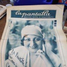 Coleccionismo de Revistas y Periódicos: LA PANTALLA-SEMANARIO ESPAÑOL DE CINEMATOGRAFÍA-N°54 AÑO III 10 FEBRERO 1929-REVISTA DE CINE. Lote 221770278