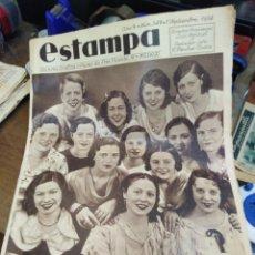 Coleccionismo de Revistas y Periódicos: ESTAMPA-REVISTA GRÁFICA-N°347,1934-CONCURSO DE VESTIDOS DE CUATRO PESETAS.. Lote 221770977
