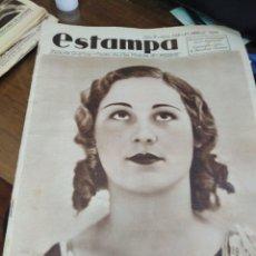 Coleccionismo de Revistas y Periódicos: ESTAMPA-REVISTA GRÁFICA-N°328 -1934,ESPECIAL MISS ESPAÑA,MISS CATALUNYA 1934. Lote 221771431