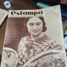 Coleccionismo de Revistas y Periódicos: ESTAMPA-REVISTA GRÁFICA-N°359 DICIEMBRE 1934-ELABORACIÓN DE MAZAPAN DE SONSECA TOLEDO. Lote 221772285