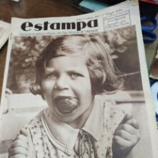 Coleccionismo de Revistas y Periódicos: ESTAMPA-REVISTA GRÁFICA-N°330 MAYO 1934-VEINTISEIS MIL NIÑOS ABANDONADOS HAY EN ESPAÑA. Lote 221772835