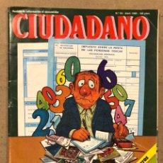 Coleccionismo de Revistas y Periódicos: CIUDADANO N° 95 (1980). ANÁLISIS FORD TAUNUS, CAZA BALLENA EN ESPAÑA,.... Lote 221774148