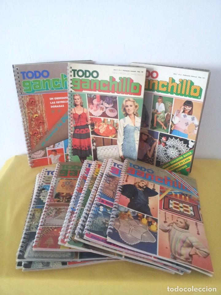 REVISTA MENSUAL ENCICLOPEDIA DE GANCHILLO (TODO GANCHILLO) 13 REVISTAS (Coleccionismo - Revistas y Periódicos Modernos (a partir de 1.940) - Otros)