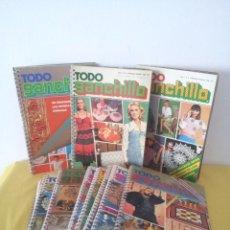 Coleccionismo de Revistas y Periódicos: REVISTA MENSUAL ENCICLOPEDIA DE GANCHILLO (TODO GANCHILLO) 13 REVISTAS. Lote 221781855