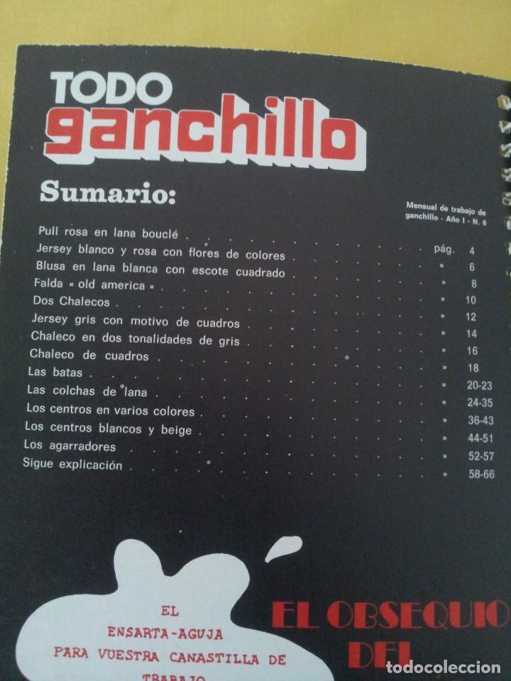 Coleccionismo de Revistas y Periódicos: REVISTA MENSUAL ENCICLOPEDIA DE GANCHILLO (TODO GANCHILLO) 13 REVISTAS - Foto 3 - 221781855