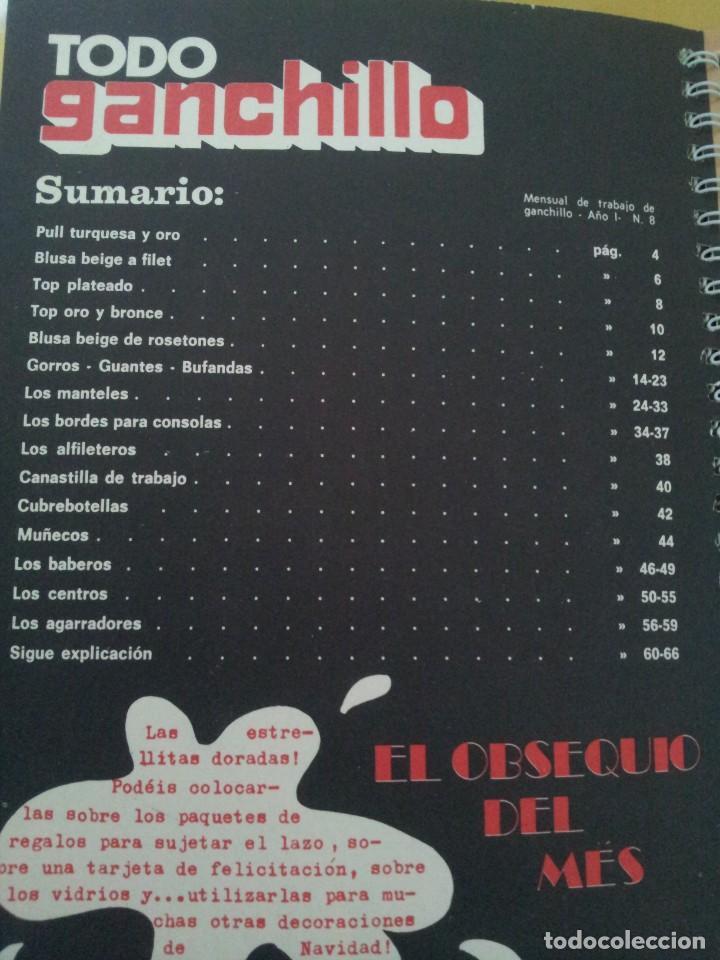 Coleccionismo de Revistas y Periódicos: REVISTA MENSUAL ENCICLOPEDIA DE GANCHILLO (TODO GANCHILLO) 13 REVISTAS - Foto 7 - 221781855