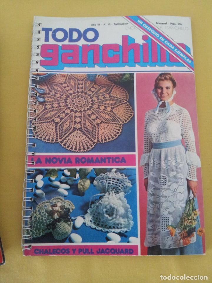 Coleccionismo de Revistas y Periódicos: REVISTA MENSUAL ENCICLOPEDIA DE GANCHILLO (TODO GANCHILLO) 13 REVISTAS - Foto 10 - 221781855