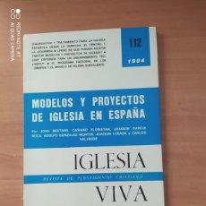 Coleccionismo de Revistas y Periódicos: IGLESIA VIVA. Lote 221851678