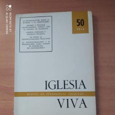 Coleccionismo de Revistas y Periódicos: IGLESIA VIVA. Lote 221859355