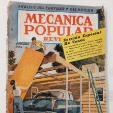 Coleccionismo de Revistas y Periódicos: MECÁNICA POPULAR. ANALÍSIS DEL CHRYSLER Y DEL HUDSON. 1955.. Lote 221875871