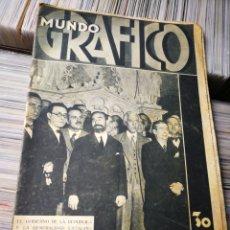 Coleccionismo de Revistas y Periódicos: MUNDO GRÁFICO- EL GOBIERNO DE LA REPÚBLICA Y LA GENERALIDAD CATALANA, 22 ABRIL 1931.. Lote 221890283