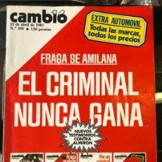 Coleccionismo de Revistas y Periódicos: CAMBIO 16 Nº595 - EXTRA DEL AUTOMOVIL AÑO 1983. Lote 221945323